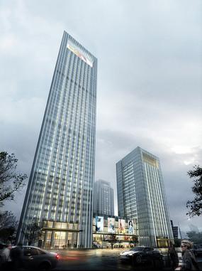 办公楼建筑PSD效果图