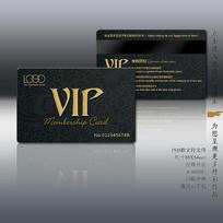 欧式底纹VIP卡设计模板
