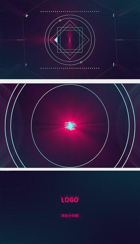 线条网络形状动画片头AE模板