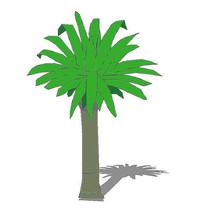 椰子树图片模型_椰子树模型设计素材小河边设计图图片
