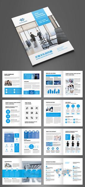 简约大气蓝色商业计划书模板