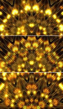 金色菱形变幻舞台背景视频