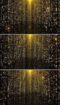 金色粒子颁奖晚会背景视频
