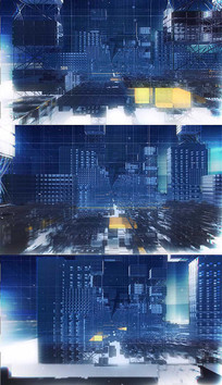 科技建筑演播室背景视频素材