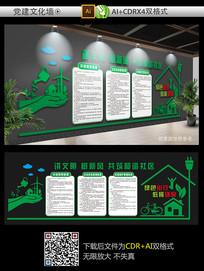 绿色环保和谐社区文化墙