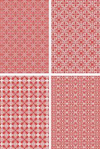 传统对称花纹底纹图案