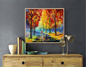 风景油画装饰画设计