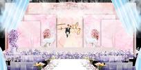高端粉红色婚礼背景