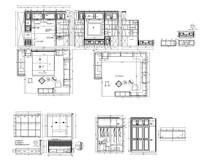 两个套间定制家具设计图 CAD