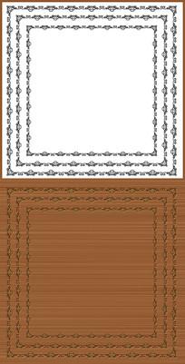 欧式花纹矢量边框