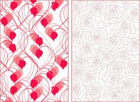 时尚玫瑰花纹底纹图案