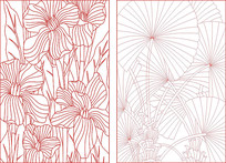 现代时尚花纹装饰图案