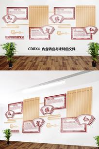 校园儒家文化墙CDR雕刻文件