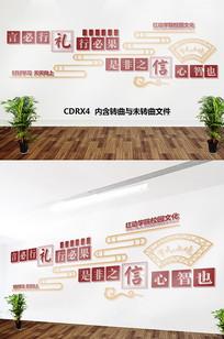 校园文化墙形象墙CDR文件