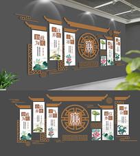 中国风中式廉政文化墙设计