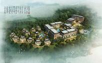 重庆某住宅景区鸟瞰图PSD PSD