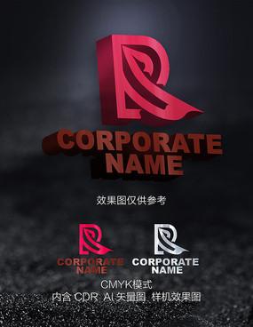 R字母logo设计标志设计
