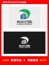 WD字母DW绿叶地产logo