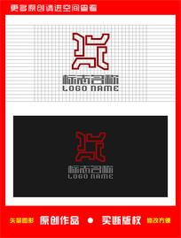 X字母标志鼎装饰logo
