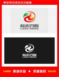 ZW字母WZ标志飞鸟logo