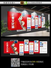 红色经典大气企业文化墙