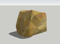 黄棕色岩石