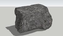 灰色大岩石