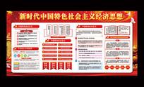 解读中国特色社会主义经济思想展板
