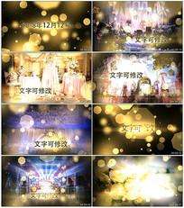 梦幻粒子背景婚礼图片开场模板