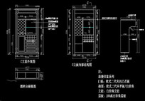 欧式风格酒吧台设计尺寸三视图