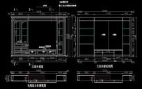 欧式风格飘窗柜CAD施工图