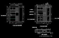 欧式造型酒柜立面尺寸图
