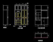 欧式装饰柜施工设计图
