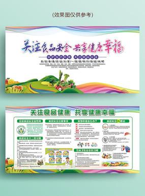 食品安全宣传周宣传展板