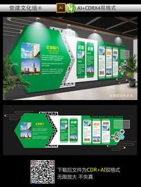 时尚大气绿色企业文化墙设计