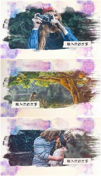 小清新水墨手绘视频相册模板