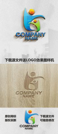 小人物LOGO标志设计