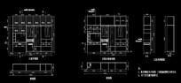 衣柜写字台CAD施工设计图