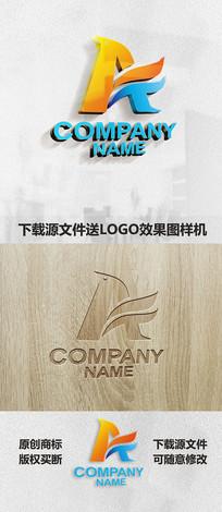 英文字母A标志LOGO设计 CDR