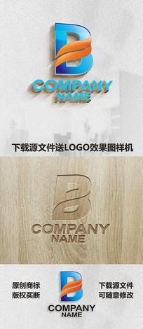 英文字母B标志LOGO设计