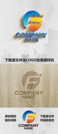 英文字母F标志LOGO设计