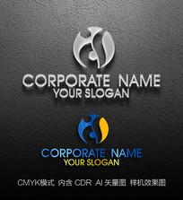 D字母标志设计logo设计