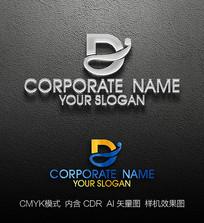 D字母标志设计商标设计