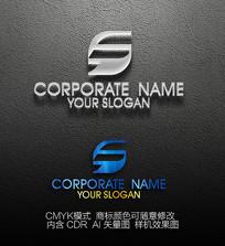 F变形标志设计logo设计