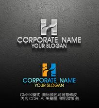 HH字母商标logo设计