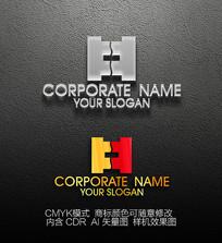 H字母标志设计