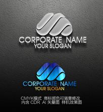 M字母标志设计