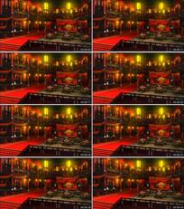 古代青楼园艺场戏台背景视频