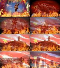 《红旗颂》党政晚会背景视频