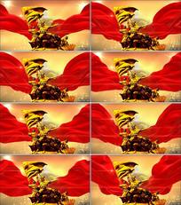 红色革命党政通用LED背景视频